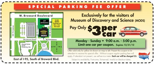 fort lauderdale museum of discovery and science parking coupon