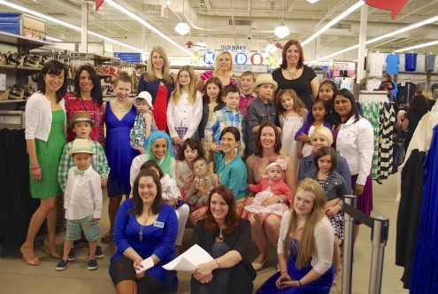 Old Navy Fashion Show Group Photo