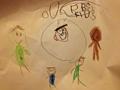 Adeline's PBS Kids Art Work