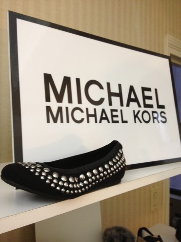 Hardware accents are big for this season, as seen on this adorable pair of flats by Michael Kors.