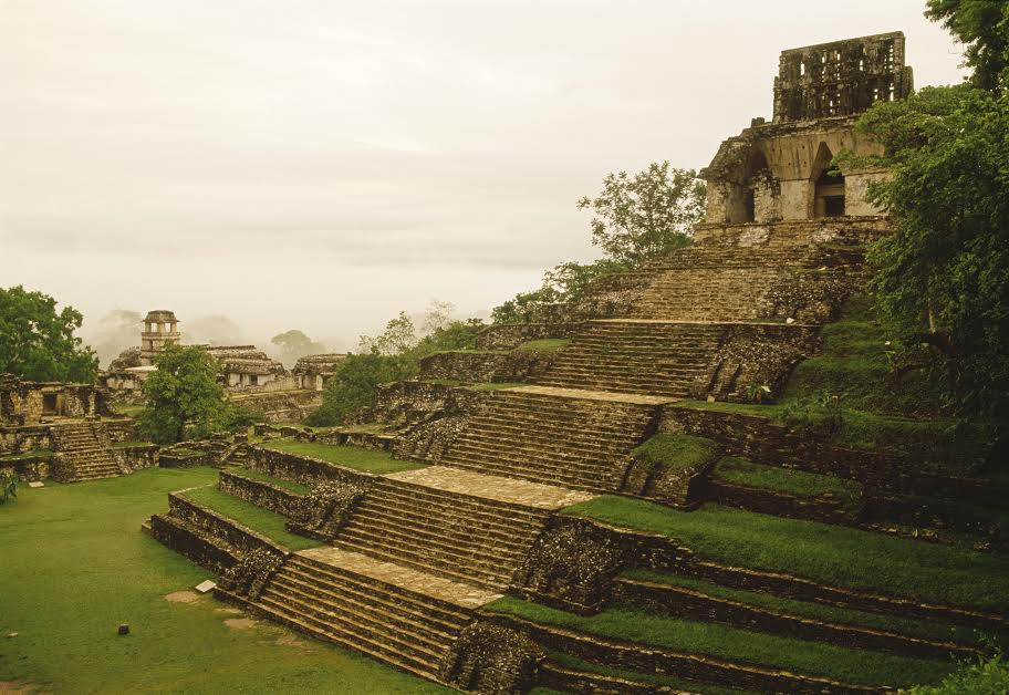 The Temple of the Cross is the largest of Palenque's pyramids. Photo courtesy Denver Museum of Nature and Science.