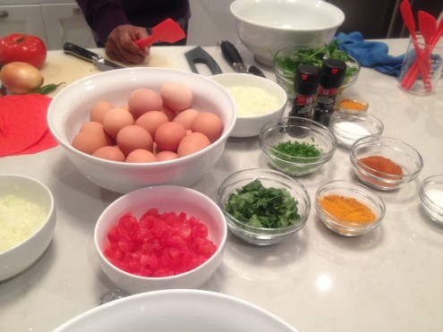 Ingredients for our omelets