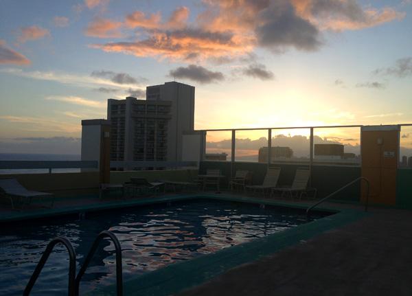 Aqua Pacific Monarch, Honululu, Waikiki travel, waikiki hotels, family travel Oahu, family hawaii, rooftop pools waikiki