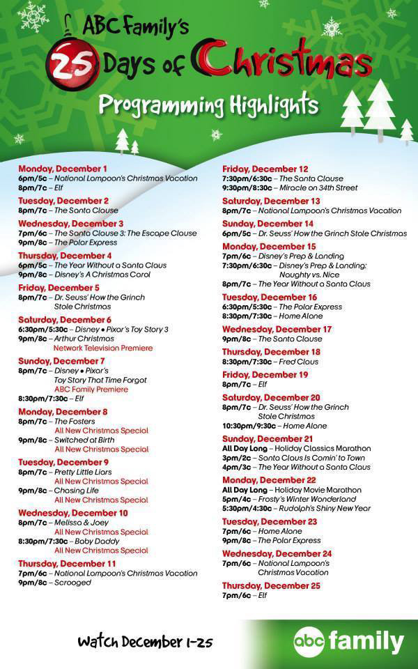 25-days-of-christmas-schedule