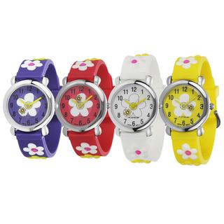 Geneva-Platinum-Kids-Silicone-Watch-with-Daisies-P15439900