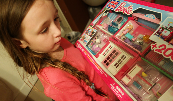 Barbie, Mega Bloks, Girl's gift ideas, Build 'n Play Fab Mansion