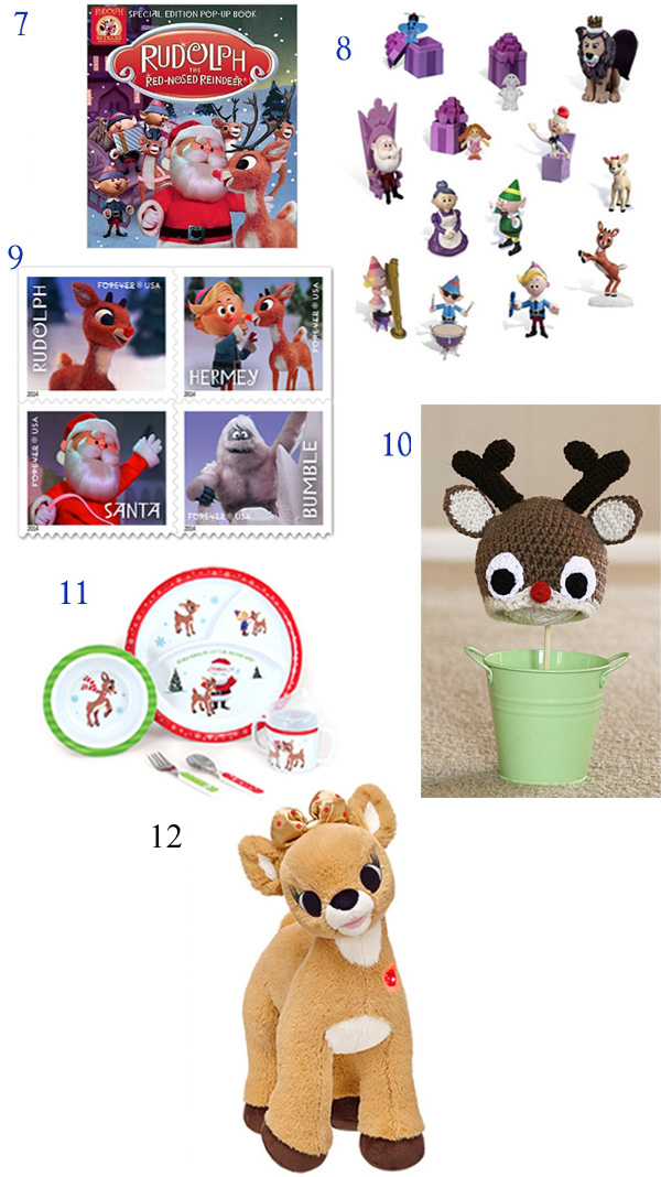 Rudolph the red nosed reindeer, Holiday Gift Guide, Rudolph gift ideas