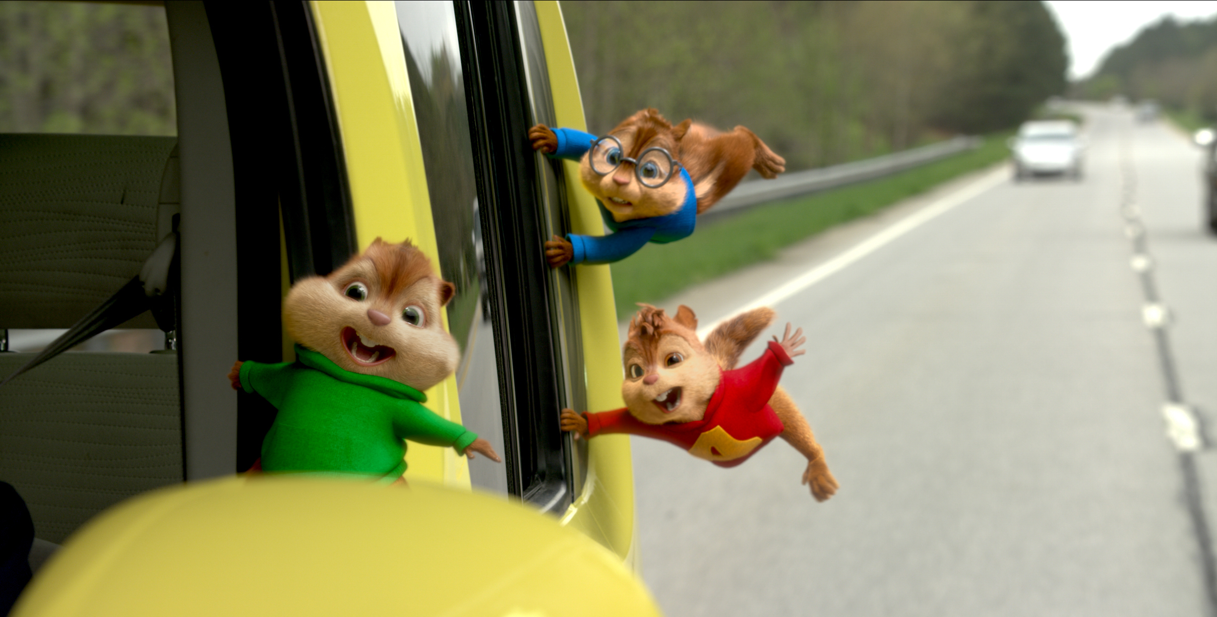 mk0060_v9787316.0079 Theodore, Alvin, and Simon go on a wild Òroad chipÓ in ALVIN AND THE CHIPMUNKS: THE ROAD CHIP. Photo Credit: Courtesy Twentieth Century Fox Alvin and the Chipmunks, the Chipettes and Charactersʪ &Ê© 2015 BagdasarianÊProductions, LLC.Ê All rights reserved.Ê© 2015 Twentieth Century Fox Film Corporation.Ê All rights reserved. ÊNot for sale or duplication.