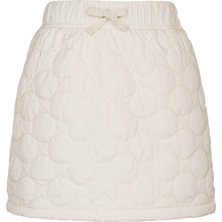 A white preppy quilted skirt on the outside with a uber warm fleece lining for my daughter