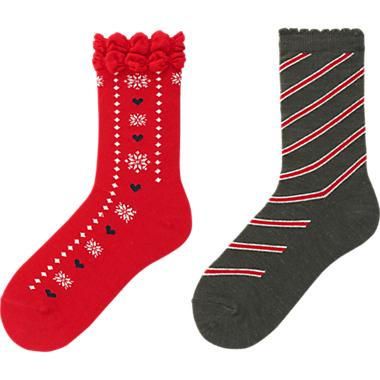 Alpine-print socks with adorable detail will fill someone's stocking this Christmas!