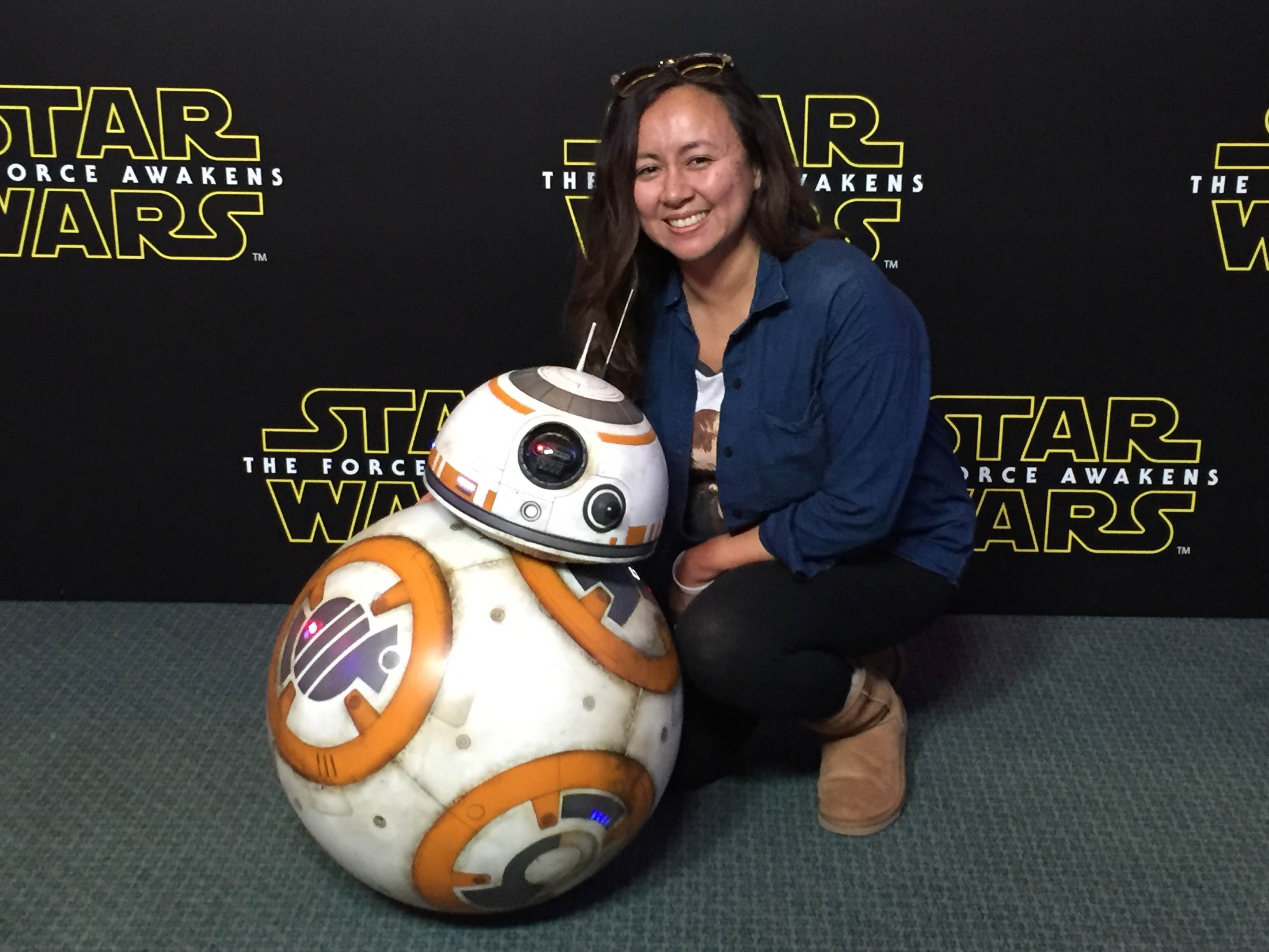 BB8 remote control, Star Wars toys, Star Wars Press Junket, The force awakens trailer