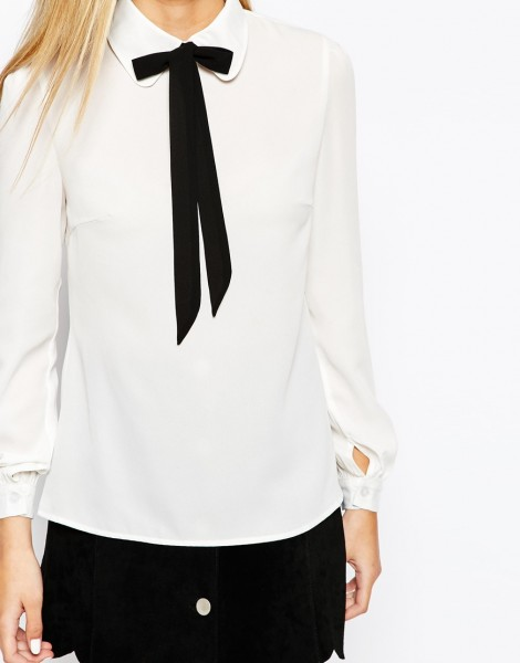 Fashion Union Shirt with Neck Tie