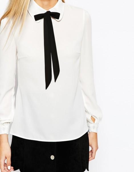 Fashion Union Shirt with Neck Tie