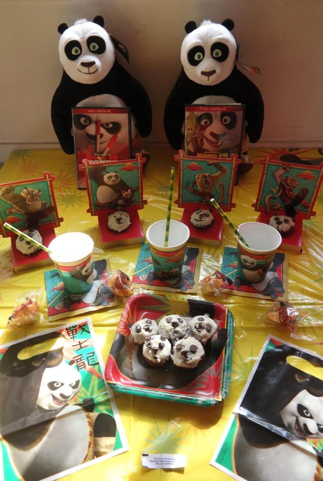 Kung Fu Panda party, Panda themed party, Kung Fu Panda DVDs, win DVDs, Panda cupcake