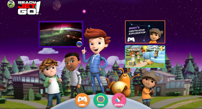 Ready Jet Go!, Ready Jet go PBS KIDS, Craig Bartlett, science programs kids, Children explore outer space