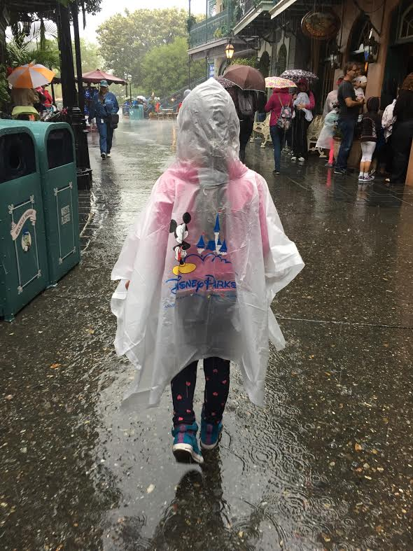 Rainy day disneyland