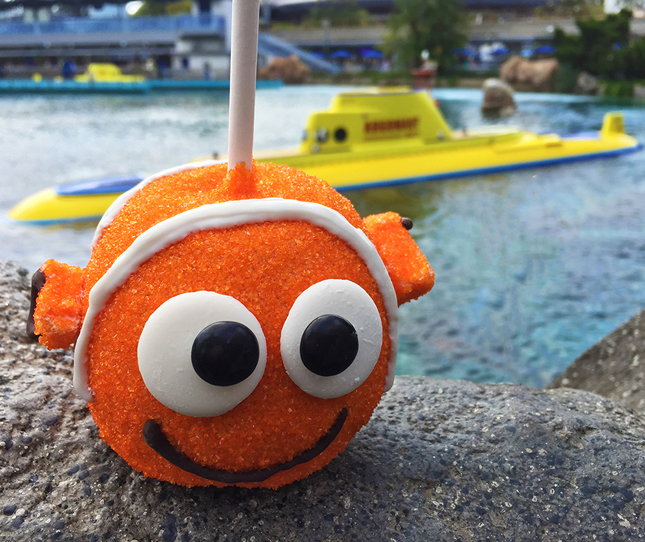 Nemo Caramel Apple, Dory Treats, Disney Parks caramel Apples