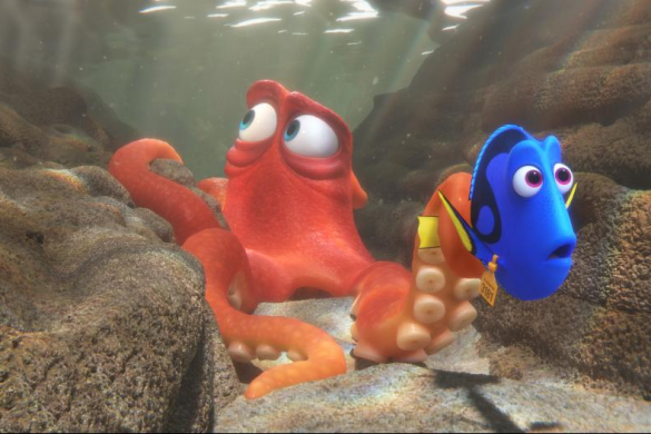 Creating Hank the octopus, finding dory easter eggs