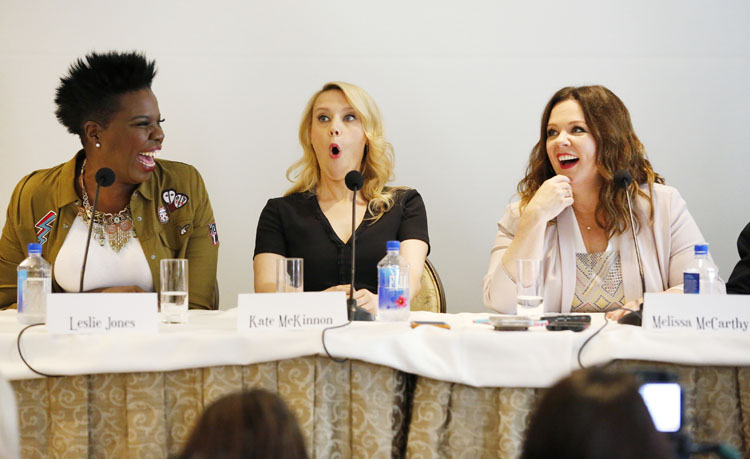 Los Angeles, Ca-- July 8, 2016: Bloggers attend a Press Conference at the Press Junket for Columbia Pictures' GHOSTBUSTERS at the Four Seasons Hotel.