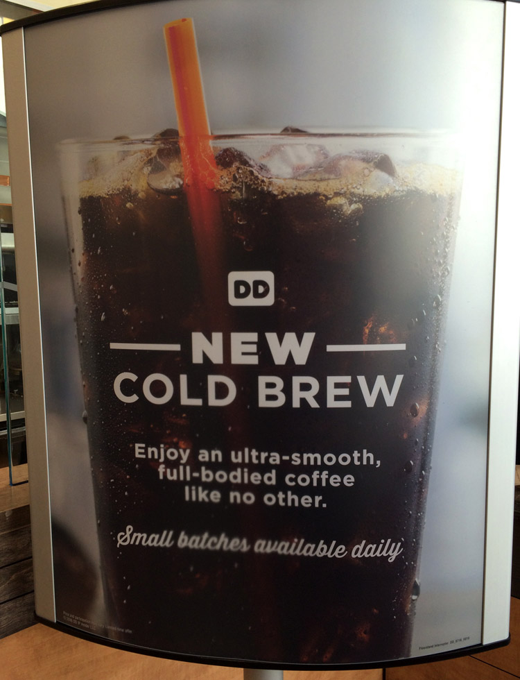 Dunkin Donuts Cold Brew, Cold Brew