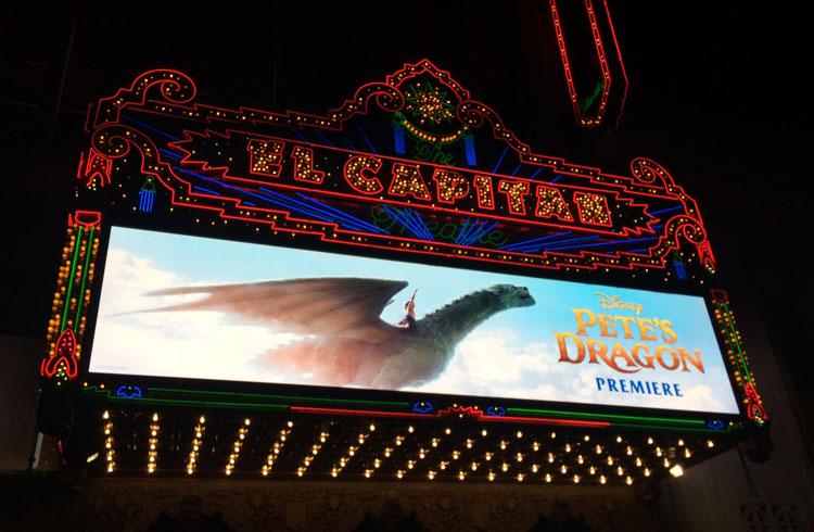 Pete's Dragon Premiere, Hollywood El Capitan, Is Pete's Dragon Scary, Bryce Dallas Howard