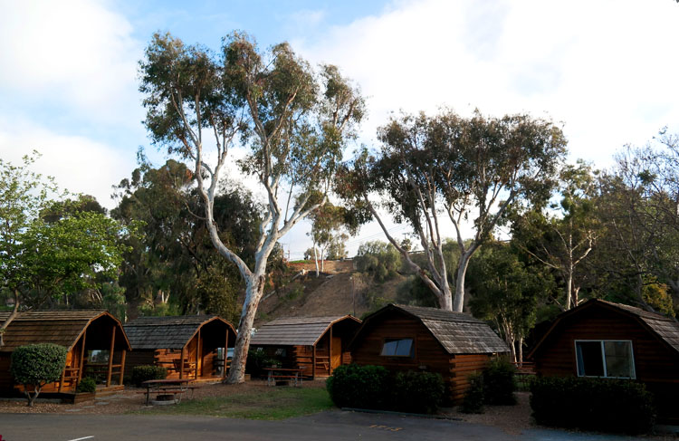 Accomodations at San Diego Metro KOA