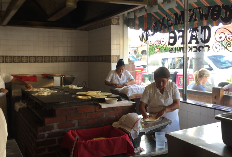 Fresh hand made tortillas, Old Town Mexican Cafe