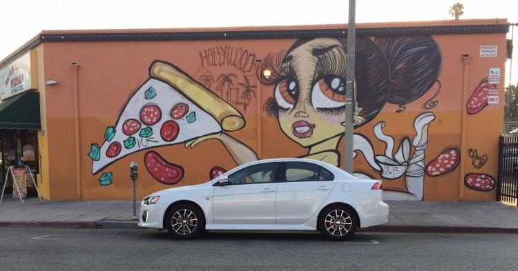 Los angeles street art, Lancer review, Mitsubishi Lancer review