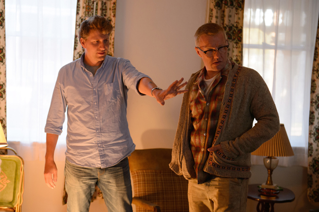Director Jeff Nichols (left) and actor Joel Edgerton (right) on the set of LOVING, a Focus Features release. Credit : Ben Rothstein / Focus Features