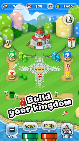 kingdom builder, Super Mario Run