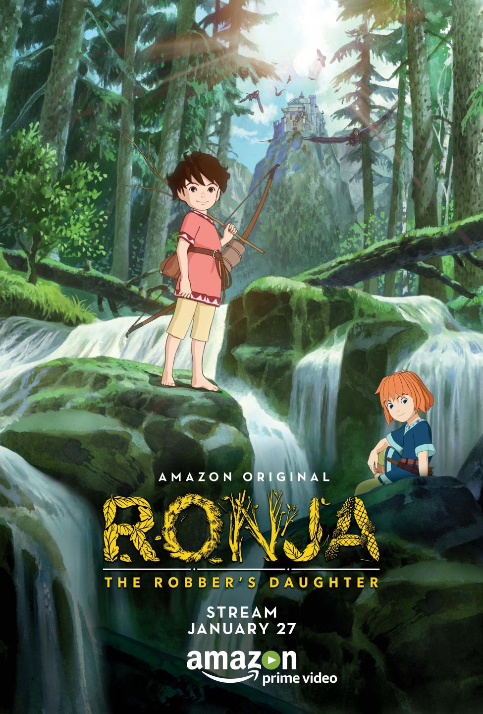 Ronja The Robber's Daughter, Amazon Prime Jan 27, Ronia, Studio Ghibli