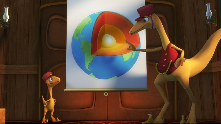 Center of the earth, PBS kids, dinosaur train, earth science for kids