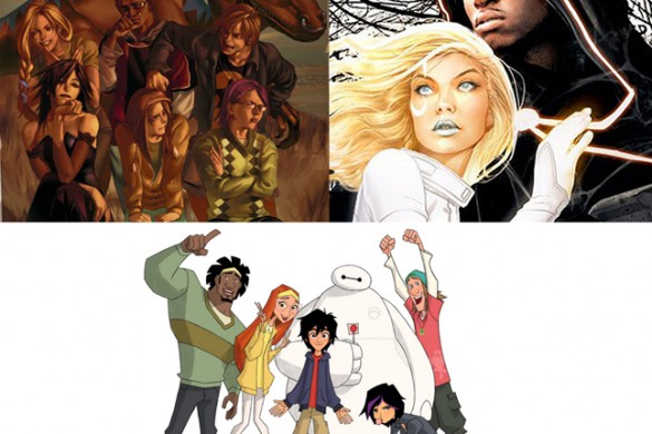 marvel's runaways, big hero six series, cloak and dagger