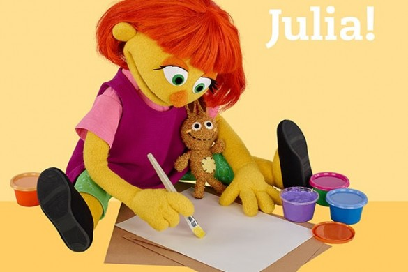 Julia Sesame Street, Sesame Street Muppet Julia, Julia Autisum muppet