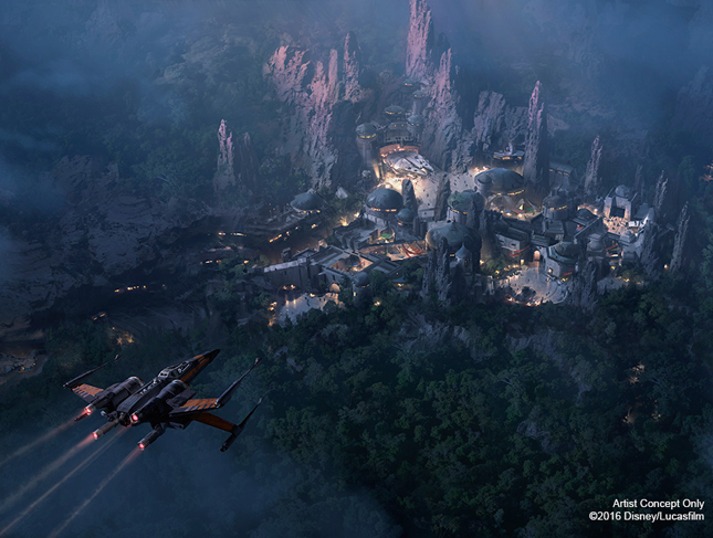 Star Wars Themed Land, disneyland star wars land