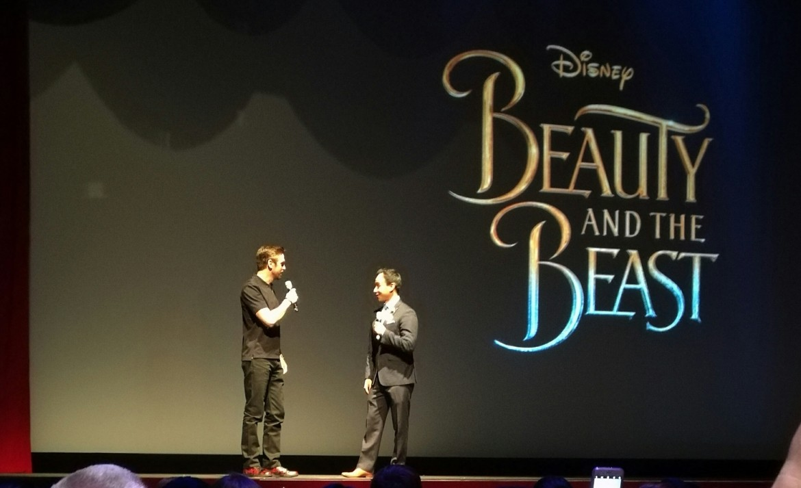 Dan stevens at Disneyland, Beauty and the Beast sneak peek, Red Rose Taverne, Grey stuff at disneyland