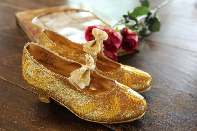 disney store belle costume shoes 3