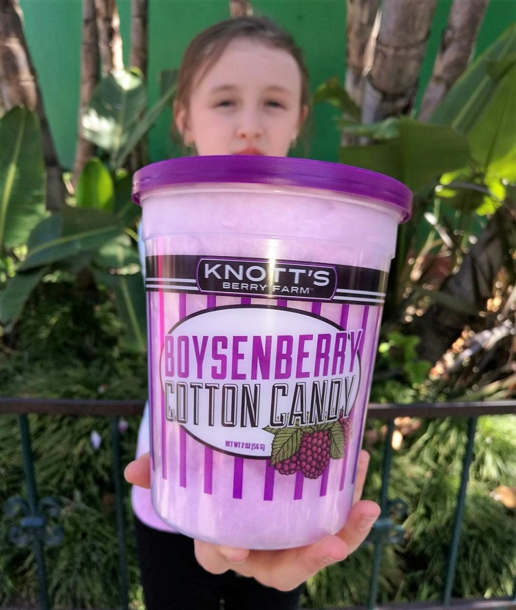 knotts boysenberry festival tasting cotton candy
