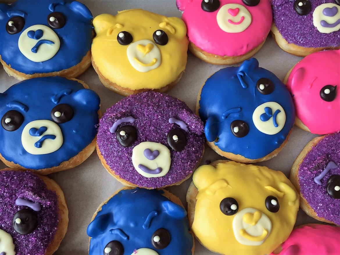 california donuts care bears, national donut day, donuts, care bears, grumpy bear