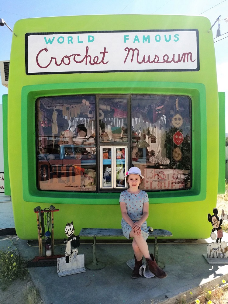 joshua tree national park kids, things to do with kids joshua tree, crochet museum review