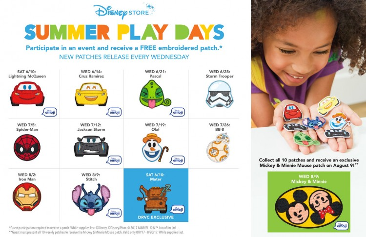 Summer days, disney store, emoji patches