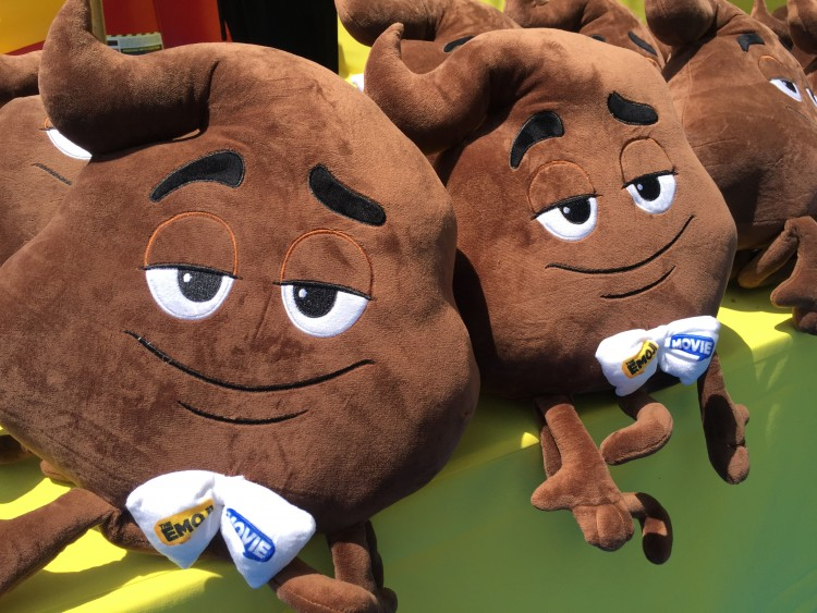 emoji movie poop pillows