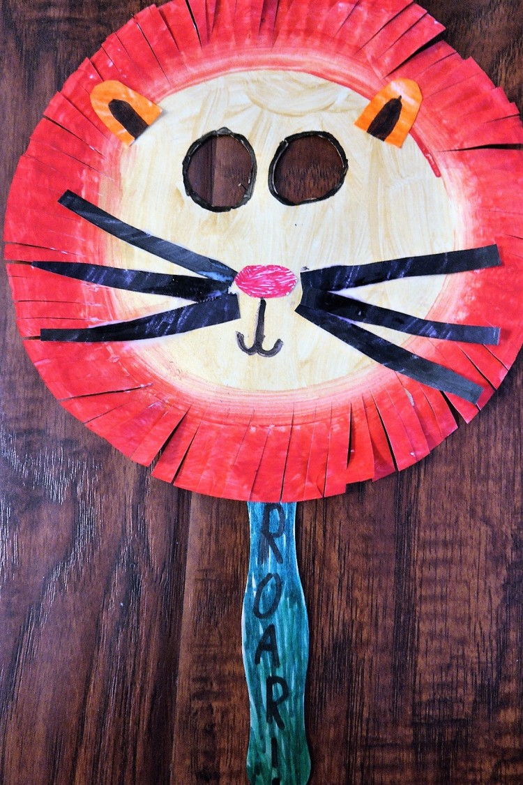 lion king paper plate lion mask 5