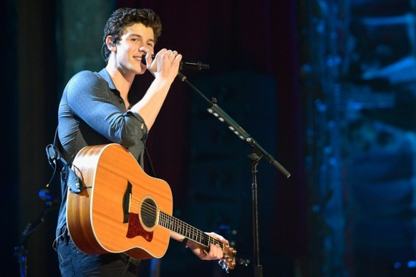 Musician Shawn Mendes performs onstage during MTV Unplugged at the Ace Theater on August 29, 2017 in Los Angeles, California.