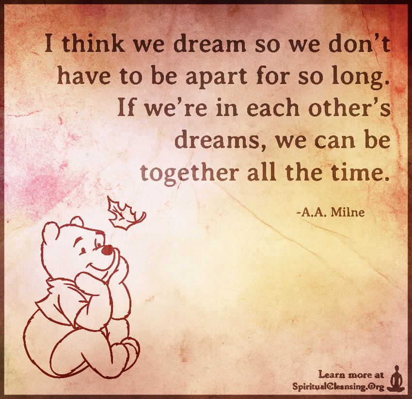 I-think-we-dream-so-we-pooh quote