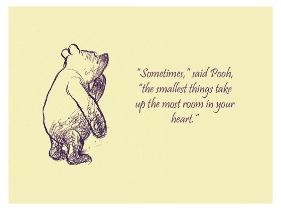 smallest things pooh