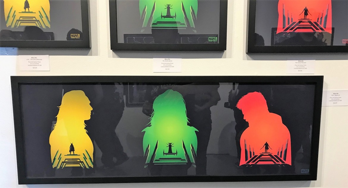 thor artwork, hero complex art show