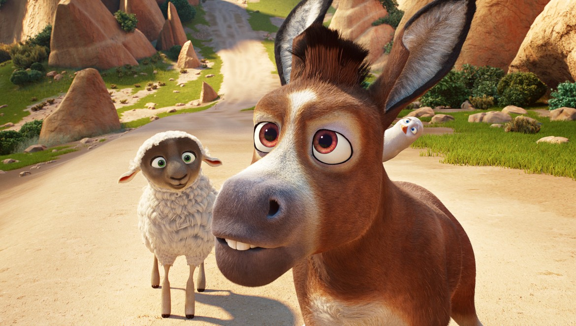 Ruth (Aidy Bryant), Bo (Steven Yeun) an Dave (Keegan-Michael Key) in Sony Pictures Animations' THE STAR.