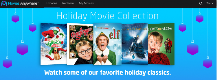 movies anywhere holiday movies