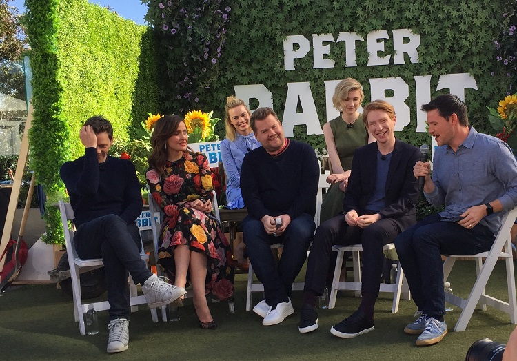 peter rabbit press conference